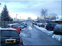 ST3186 : Hospital overflow car park, Mendalgief Road, Newport by Jaggery