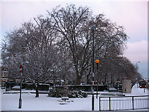 TQ4077 : Batley Park in winter by Stephen Craven