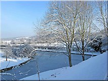 SO8171 : Frozen canal junction by P L Chadwick