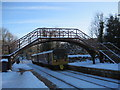 NZ0161 : Station footbridge at Riding Mill Station by Les Hull