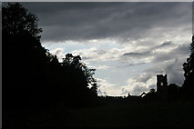 SE2768 : Fountains Abbey: view from the east, late afternoon by Christopher Hilton