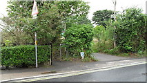 TM3877 : Road and path junction in Wissett Lane by Basher Eyre