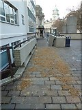 SU6400 : Signs of recent gritting in Guildhall Square by Basher Eyre