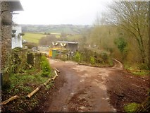 SO2941 : Muddy lane at Llanarch Farm by Trevor Rickard