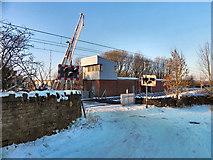 SD7908 : Level Crossing At Hinds Lane/Warth Fold Road by David Dixon