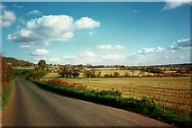 TQ5959 : The Kemsing Road, looking east towards Wrotham by Roger Smith