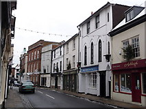 SU3521 : Romsey: South Street shopfronts by Chris Downer