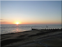 TM5075 : Beach at Southwold at sunrise, Boxing Day by Adrian S Pye