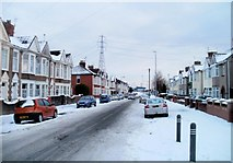 ST3186 : Quiet section of Mendalgief Road, Newport by Jaggery