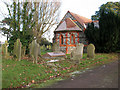 TG5104 : Graves by the chapel in Gorleston cemetery by Evelyn Simak