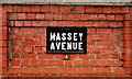 J3975 : Massey Avenue sign, Belfast (2) by Albert Bridge