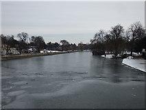 TL0549 : Frozen River Great Ouse, Bedford by PAUL FARMER