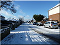 SU6805 : A snowy scene looking west in Second Avenue by Basher Eyre