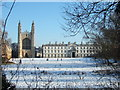 TL4458 : The Backs and King's College Cambridge - Christmas Day 2010 by Richard Humphrey