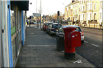 TL4559 : Chesterton Road with postbox by Alan Murray-Rust