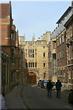 TL4458 : King's College Gateway, Queens' Lane by Alan Murray-Rust