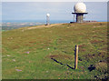 SO5978 : Shropshire Way marker post on Titterstone Clee Hill by Trevor Rickard