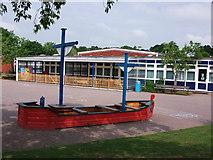 SP2871 : Clinton Primary School. Caesar Road, Kenilworth by John Brightley