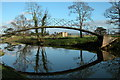 SO8844 : Modern bridge over Croome River by Philip Halling