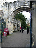 SE5952 : Gateway to former St Mary's Abbey, York by Phil Champion