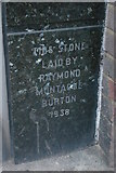 TQ3370 : Foundation stone, former Burton's, Upper Norwood by Christopher Hilton