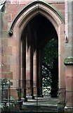 SK2957 : West porch of St Mary's Cromford by David Lally