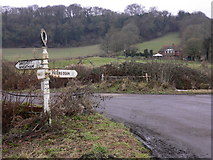 SU7328 : Old signpost near Oakshott by Shazz