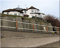 TM5075 : Perched on Gunhill Cliffs, Southwold by Evelyn Simak
