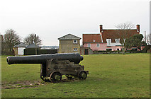 TM5075 : One of the cannon on Gun Hill, Southwold by Evelyn Simak
