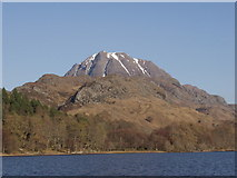 NH0068 : Slioch from the Letterewe crossing on Loch Maree by Mick Crawley