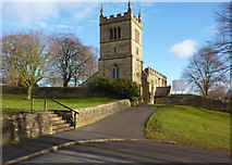 SK4968 : Church of St Leonard, Scarcliffe by Andrew Hill