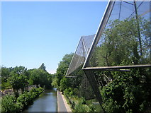 TQ2783 : London Zoo: Aviary, overlooking Regent's Canal by Christopher Hilton