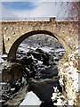 NH4063 : One arch of the old bridge at Silverbridge by sylvia duckworth