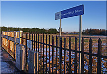 NS4464 : Railings and Gate , Linwood by wfmillar