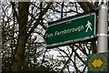 TQ4362 : Sign pointing the way to Farnborough by Christopher Hilton