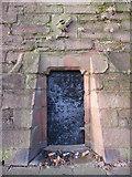 SJ3588 : Doorway in wall of disused reservoir on High Park Street by John S Turner