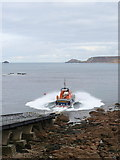 SW3526 : A practice launch of Sennen lifeboat 'City of London III' by Rod Allday