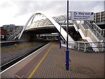 TQ1885 : Wembley: Wembley Stadium station platforms by Chris Downer