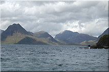 NG5113 : Strath : Looking up Loch Scavaig towards An Cuilthionn/The Cuillin from Ealaghol/Elgol by Ken Bagnall