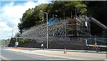 ST5673 : Remedial work at Bridge Valley Road on Bristol's Portway by Anthony O'Neil