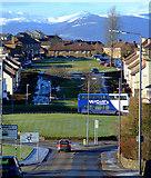 NS3373 : Boglestone Roundabout by Thomas Nugent