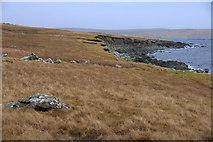 HU5899 : Coastline at Knowe of the Wick, between Uyeasound and Heogland by Mike Pennington
