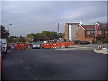 TQ1385 : Road works on Petts Hill, Northolt by David Howard