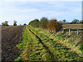 SP7604 : Farmland and footpath, Bledlow by Andrew Smith