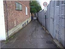 TQ1572 : Footpath alongside railway line, Strawberry Hill by David Howard