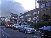TQ2374 : Traffic waiting at the lights, Putney Hill by David Howard