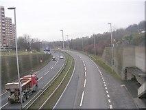 SE2334 : Stanningley Bypass (A647) - Swinnow Road by Betty Longbottom