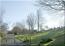 SE1734 : Undercliffe Cemetery - near Otley Road Entrance by Betty Longbottom