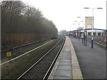 SD8912 : Rochdale station, looking toward Manchester by Peter Whatley