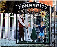 J3775 : Ornamental gate, Sydenham, Belfast (2) by Albert Bridge